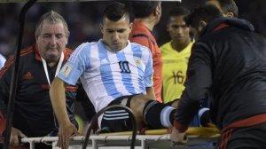 Man City Striker, Aguero, Injured On International Duty